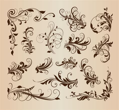 antique design name vintage floral vector art male models picture