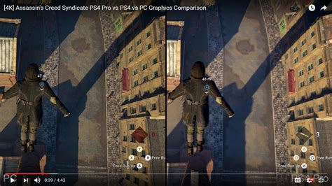 assassins creed syndicate ps pro  ps  pc graphics comparison pcgaming