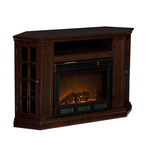 Corner Electric Fireplace Tv Stand Narita Corner Flat Wall Media Espresso Electric Fireplace Tv Stand Sei Fe9366 Ebay