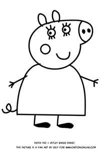 disegno mamma pig da colorare