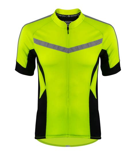 mens reflective cycling high vis reflective cycling jersey made for visibility