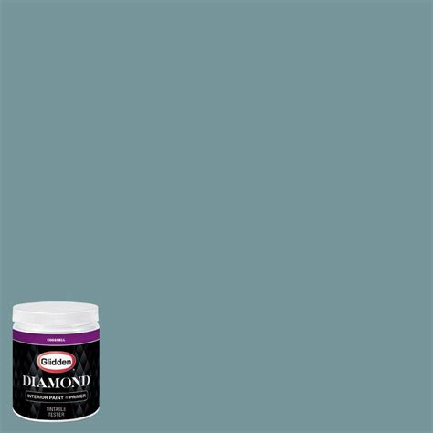 glidden 8 oz hdgb37d nantucket teal eggshell interior paint with primer tester