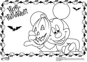 mickey halloween coloring pages coloring