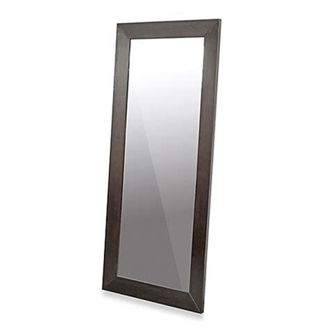 daffodil dark brown wood frame leaner mirror bed bath