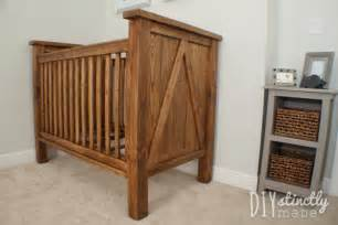 Diy Baby Cribs White Diy Farmhouse Crib Featuring Diystinctly Made Diy Projects