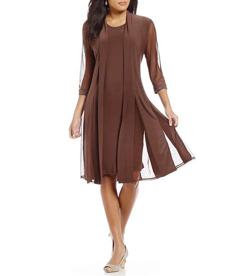 Dress With Jacket r m richards 2 duster jacket dress dillards