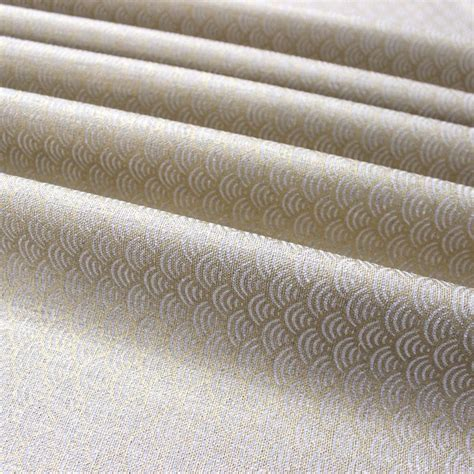 gold pattern linen furniture fabric in linen with geometric print black and
