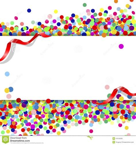 Banner With Confetti Stock Vector Image Of Christmas
