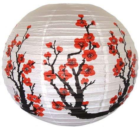 How To Make A Japanese Lantern With Paper - 16 quot cherry flowers japanese paper lantern