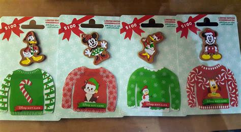 Ugly Sweater Gift Card - new ugly sweater disney gift card pin combo sets