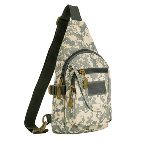 Slingbag Tactical Army mens travel hiking tactical army camo sling backpack chest shoulder bag ebay