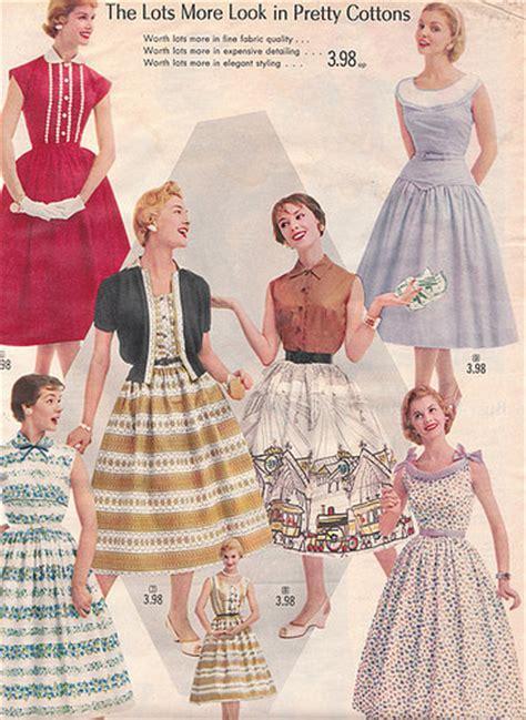 1950s 1957 vintage dress fashion vintage image