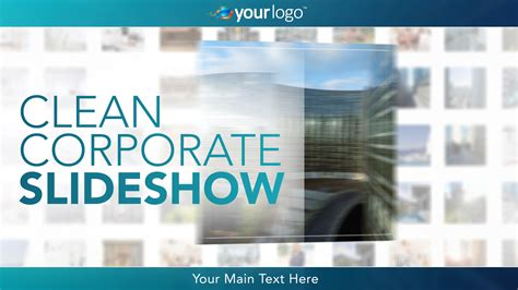 clean corporate slideshow