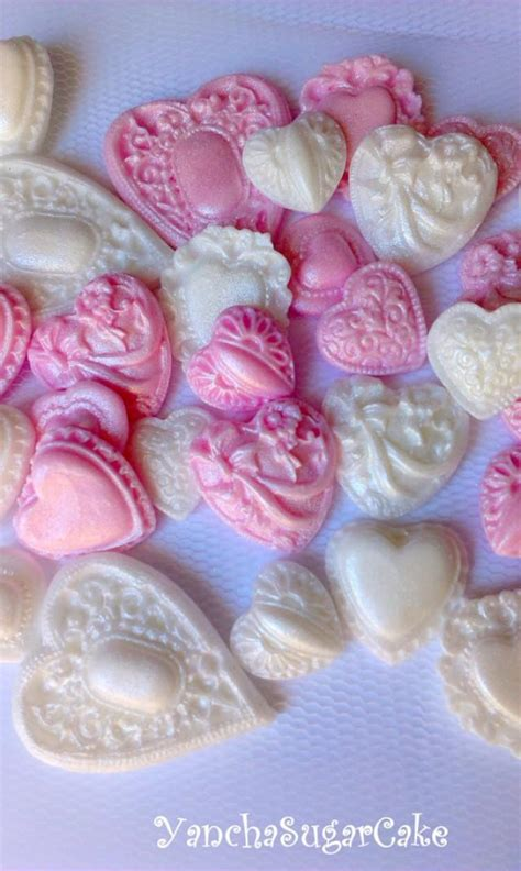 edible cupcake toppers for bridal shower fondant edible hearts brooch cupcake topper baby