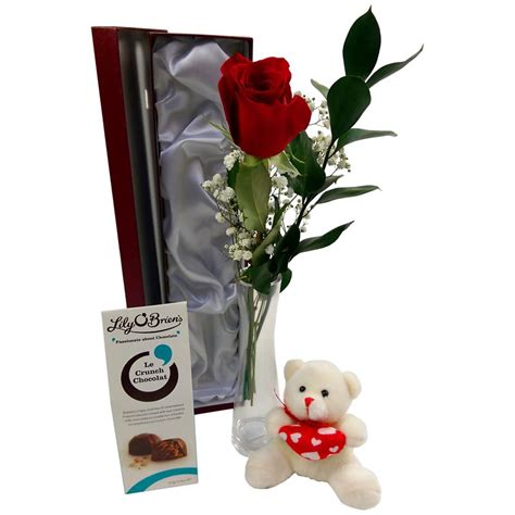 Box A Single David White Pink Preserved Flower single deluxe gift set fresh roses delivered in the uk by clare florist