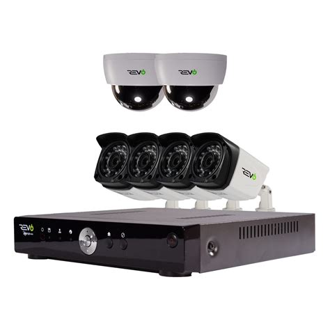 revo aero hd 1080p 8 ch security system with 6 cameras