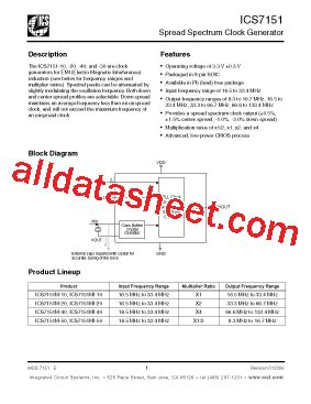 all about integrated circuits pdf 7151mi40 datasheet pdf integrated circuit systems