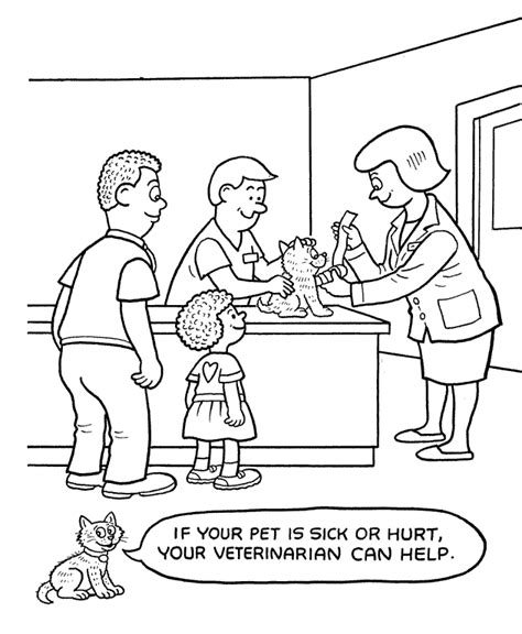 coloring pages veterinarian pets coloring page coloring home
