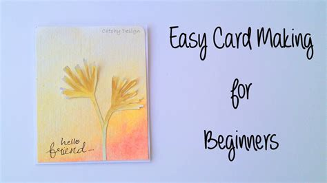 card for beginners diy easy card for beginners and water