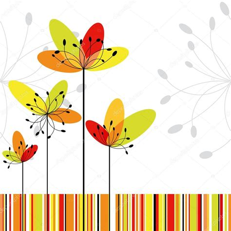 flor do rio on pinterest abstract flowers vector springtime abstract flower on colorful stripe background