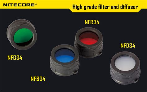 Promo Nitecore Beam Filter For Flashlights 25mm Nfd25 Black G5036 Kere colour filters 34mm nfg34 nfr34 nfb34 nfd34 r100 can