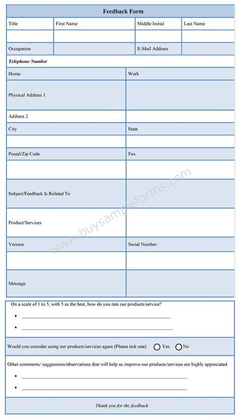 28 feedback form template free feedback survey