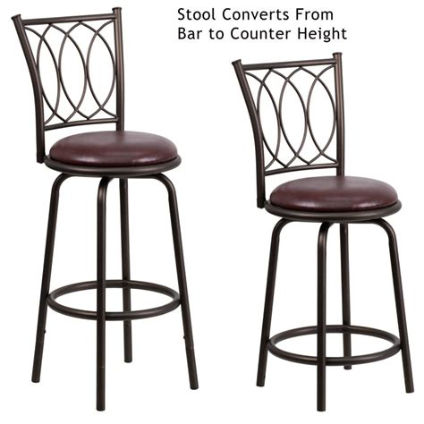 Bar Stool Or Counter Stool Height by 29 Brown Metal Dual Height Counter Or Bar Stool With