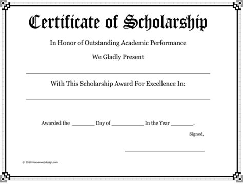 19 view scholarship certificate template mikeperrone me