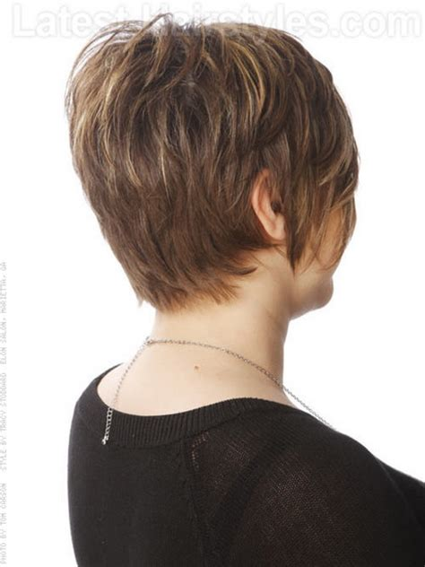 front side backiews of shorthair styles short haircuts front and back view
