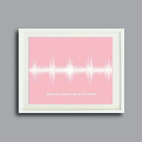 personalized wall decor for home we love this framed heart beat what a great piece of artwork for a nursery nursery