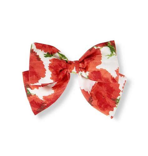 Floral Barrette accessories metropolitan floral bow floral barrette by