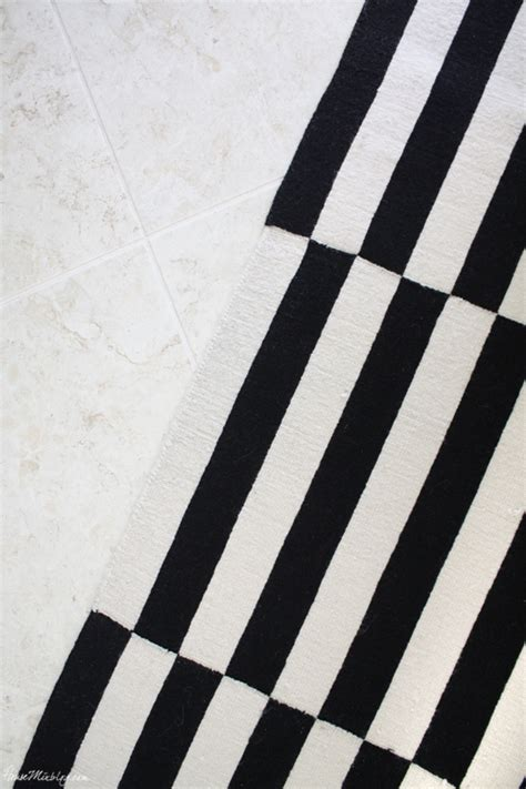 ikea black and white striped rug gallery wall tv in living room house mix