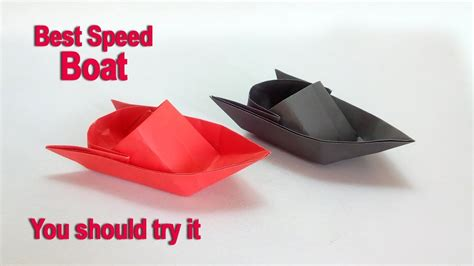 Origami Speed Boat - paper boat how to make a paper speed boat diy easy