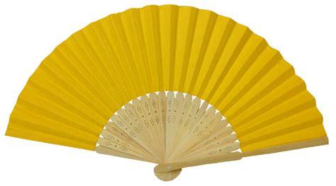 Paper Folding Fan - folding paper fan 8 25 quot yellow