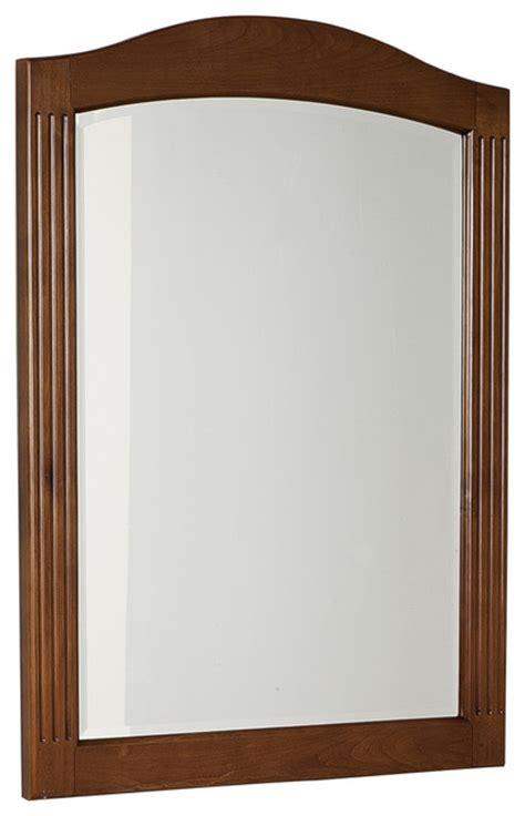 wood bathroom mirrors traditional birch wood veneer wood mirror in cherry 24