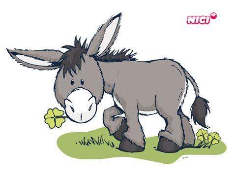 Wandtattoo Kinderzimmer Esel by Wandtattoo Nici Mit Klee Esel