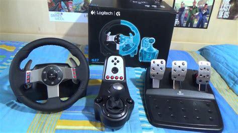 volante logitech g27 unboxing logitech g27 racing wheel volante g27