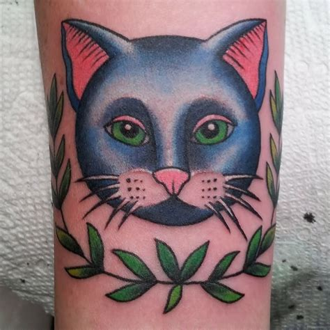 cat face tattoo traditional cat design www pixshark images