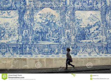 Fliese Portugal by Fliese Europas Portugal Porto Ribeira Redaktionelles Foto