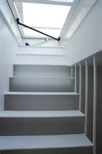 dachluke mit treppe roof access hatch with fixed stairs staka