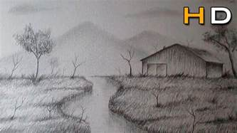Landscape Pictures Drawing How To Draw A Landscape With Pencil Step By Step For