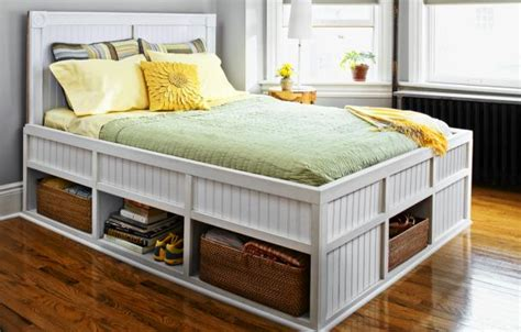 self made headboards how to build a storage bed this old house