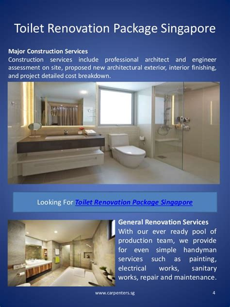 house renovation package toilet renovation package singapore