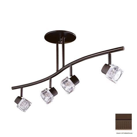 Track Pendant Lights Shop Kendal Lighting 4 Light 32 5 In Rubbed Bronze Glass Pendant Linear Track Lighting Kit