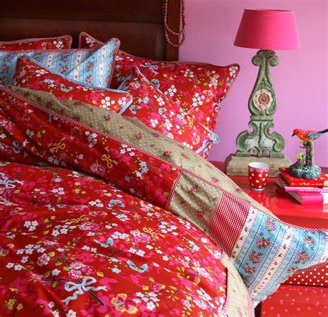 pip studio bettwaesche chinese rose red rot  cm