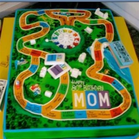 theme board exles cool life game board cake themed sweets board games