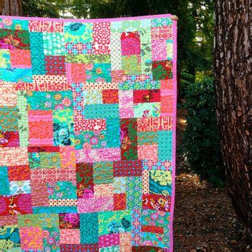 Modern Patchwork Quilt Designs - esmeralda modern random patchwork quilt from mamaroux on
