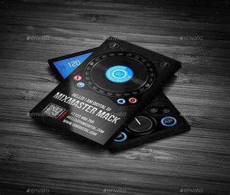 dj business card template psd free digital dj business card by vinyljunkie graphicriver
