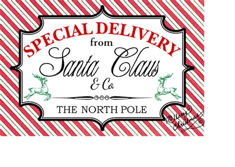special delivery labels for your christmas packages the