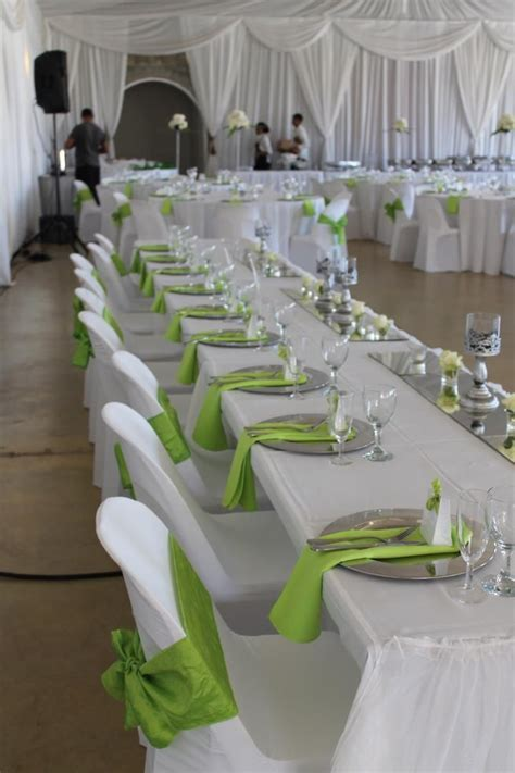Happy Hearts, Cape Town wedding: Lime green, white and